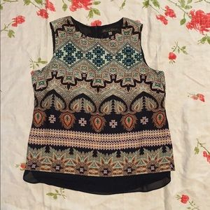 Rose and Olive Printed Top